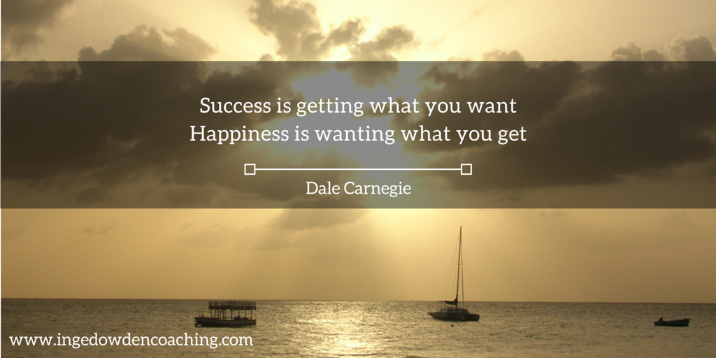 Success and happiness quote from Dale Carnegie