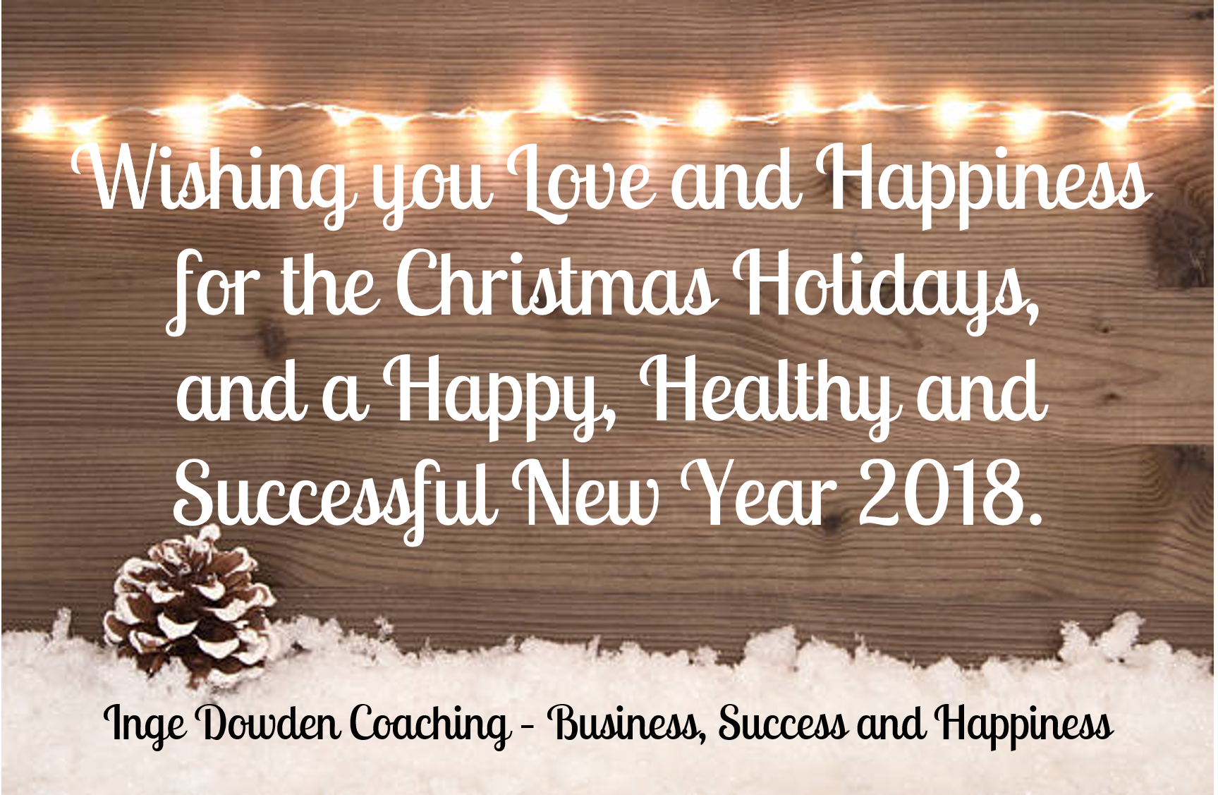 Merry Christmas from Inge Dowden