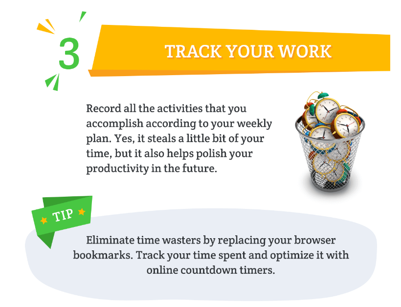 Track your work